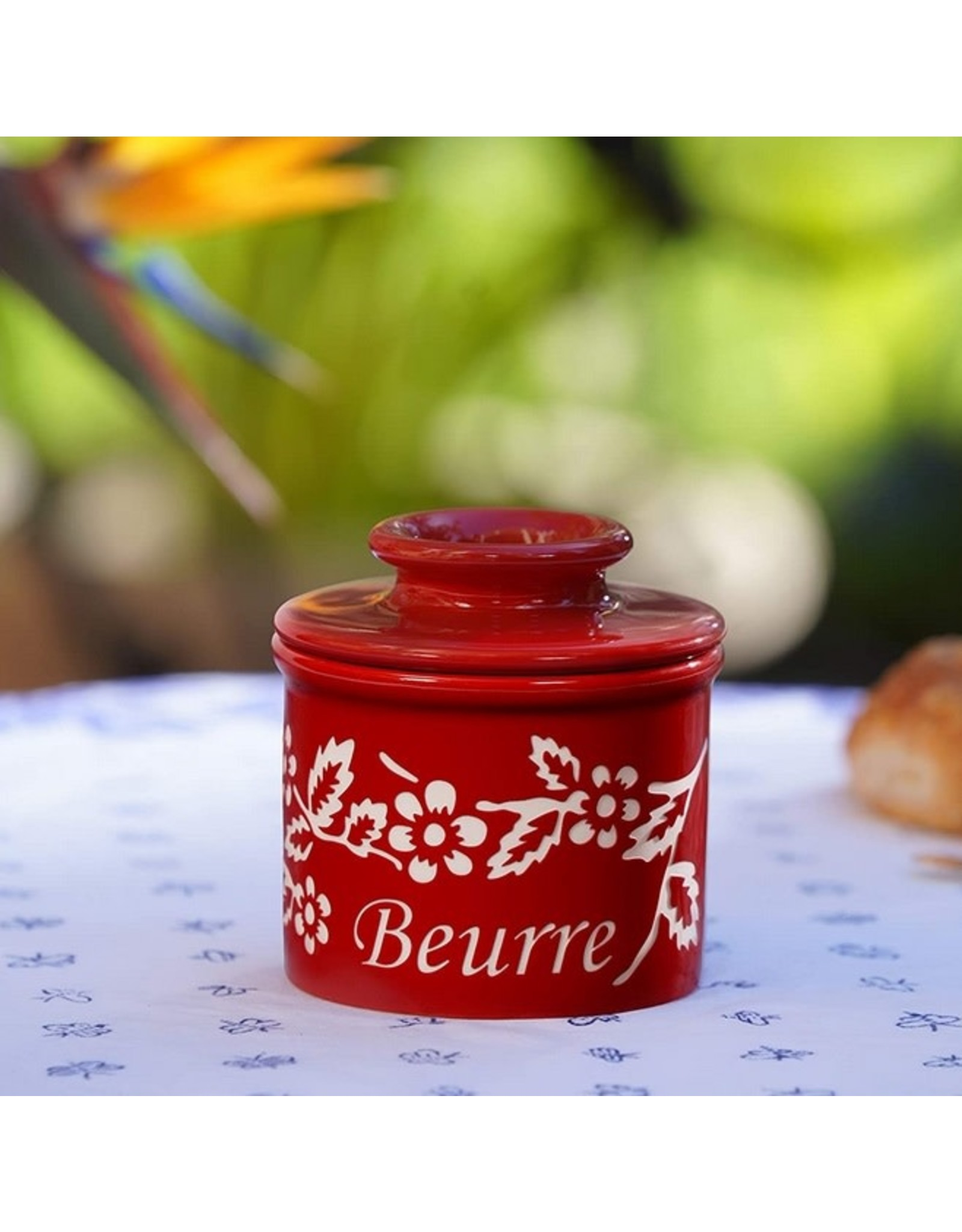 Fox Run Butter Keeper Garnet Red FLEUR DE PROVENCE