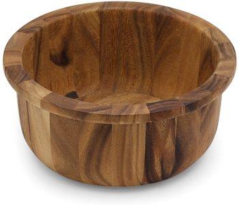 Salad Bowl with Lip/ Acacia