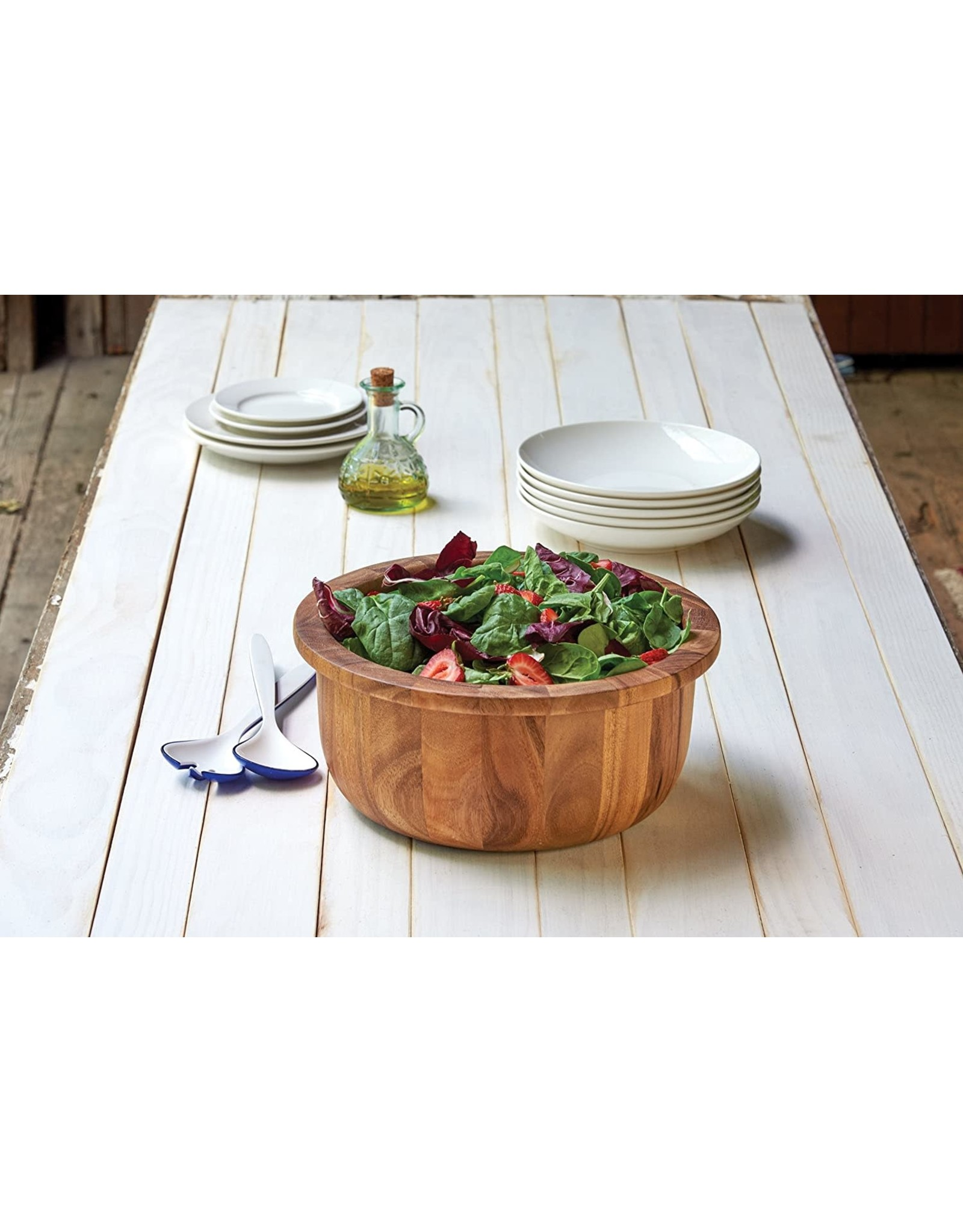 Fox Run Salad Bowl with Lip/ Acacia