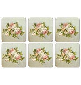 Pimpernel Coasters Antique Roses  / Set of 6