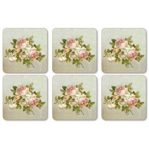 Pimpernel Coasters Antique Roses  / Set of 6