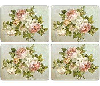 Placemats Antique Roses Set/4