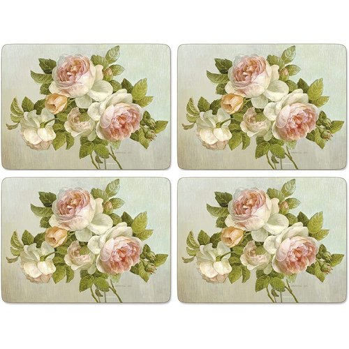 Pimpernel Placemats Antique Roses Set/4