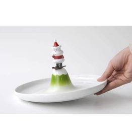 Alessi Plate Pastry / nuts SANTA ON A MOUNTAIN Alessi