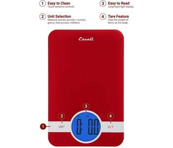 ESCALI CIRO Digital Glass Scale - RED