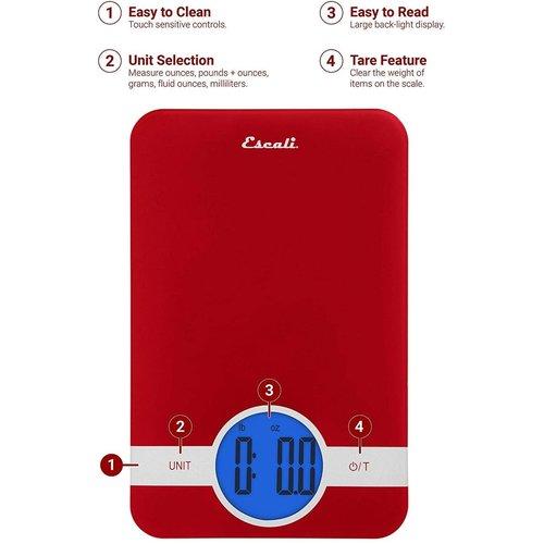 Escali ESCALI CIRO Digital Glass Scale - RED