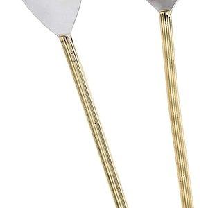 Abbott Brass Rib Handle Salad Tongs