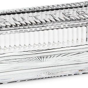 """Abbott BUTTER DISH QUARTER LB.  WITH COVER- 7"""""""