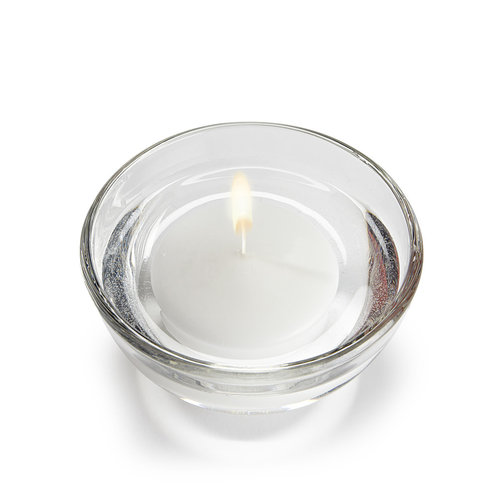 "Abbott Candle Floater LARGE 3"" - White"