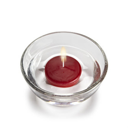 """Abbott Candle Floater SMALL 2.25"""" - Red"""