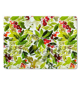 """Abbott Cranberry & Greenery Placemat 13x18"""" WIPEABLE"""