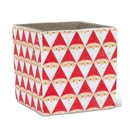 Abbott Graphic Santa Cube Planter - small