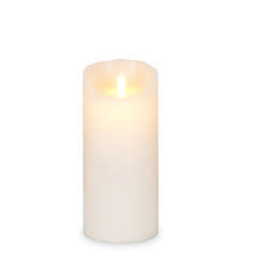 "Realite Pillar Candle Flameless 3x7"" Ivory"