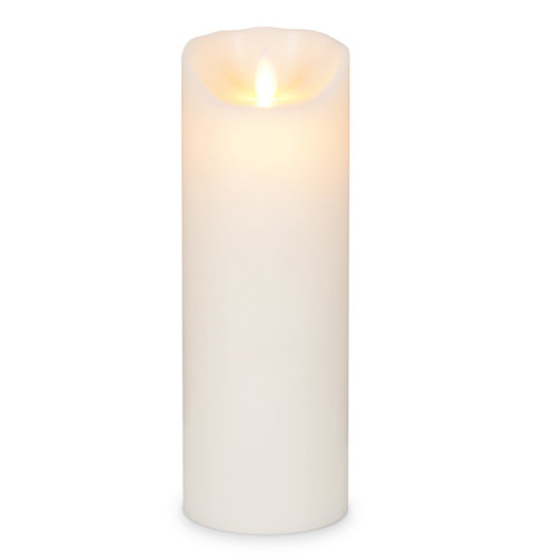 "Realite Pillar Candle Flameless 3x9"" IVORY"