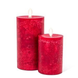 """Abbott PILLAR Candle Medium Deep Red - 5"""""""