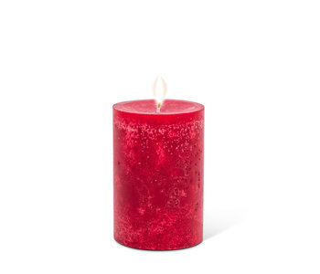 """PILLAR Candle Small Deep Red - 3.5"""""""