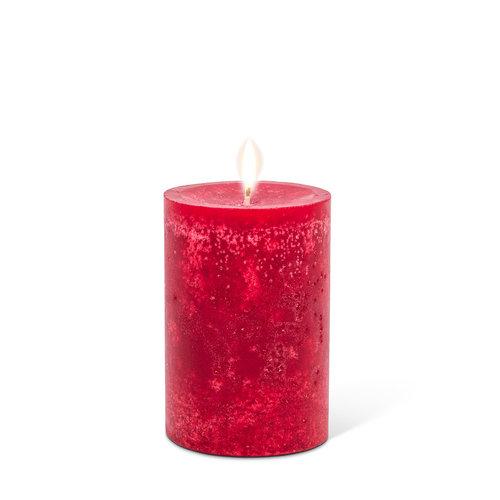"""Abbott PILLAR Candle Small Deep Red - 3.5"""""""