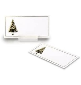 Abbott Placecard Gold Xmas Tree 24 pc