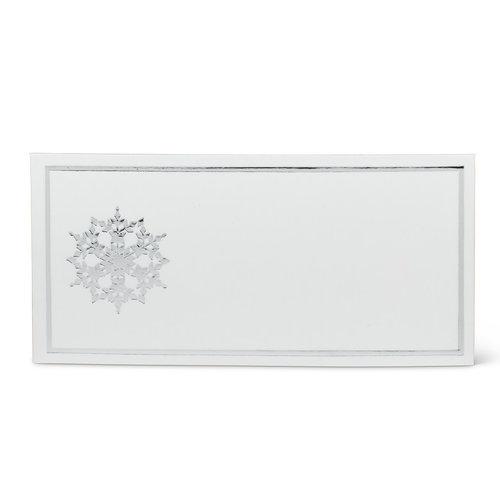 Abbott Placecard Silver Snowflake 24 pc