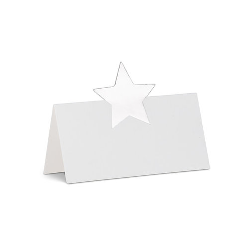 Abbott Placecard Silver Star 12 pc