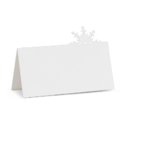 Abbott Placecard Snowflake 12 pc