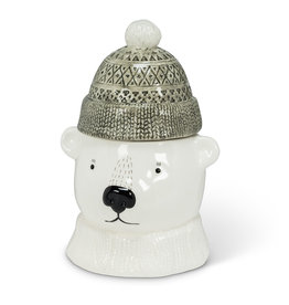 Abbott Polar Bear Covered Jar 11""