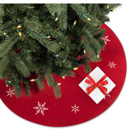 Abbott Red Snowflake Tree Skirt 39''