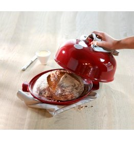 Emile Henry EMILE HENRY BREAD CLOCHE SET Red