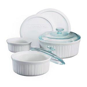 Carol's Nicetys Corning Ware Set/ French White/ 7 pcs
