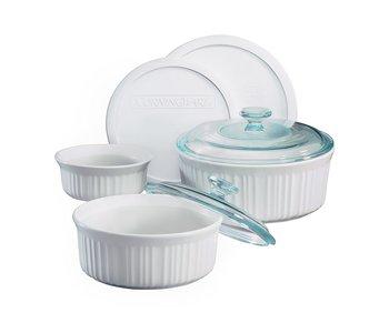 Corning Ware Set/ French White/ 7 pcs