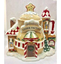 Cosmos Santa's Village Cookie Jar