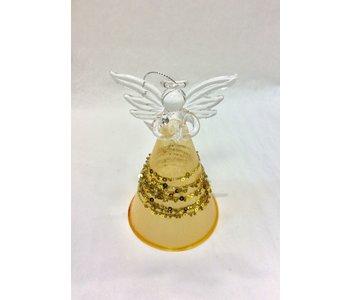 """Fairy Gold Beaded Clear Skirt 5"""" tall"""