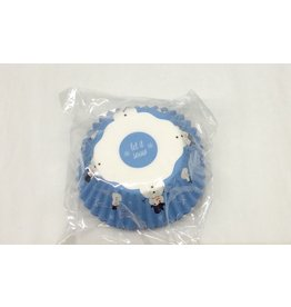 Fox Run Bakecup BLUE SNOWMAN 50 pcs