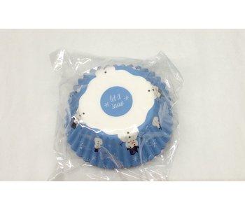 Bakecup BLUE SNOWMAN 50 pcs