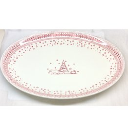 WWRD Canada ED HOLIDAY large oval platter 17""