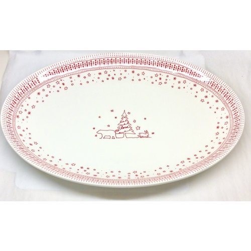 """WWRD Canada ED HOLIDAY large oval platter 17"""""""