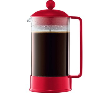 BRAZIL French press 8 cup 1L red