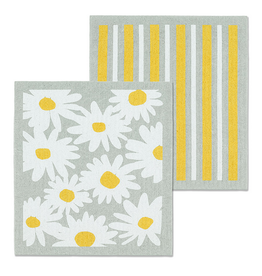Abbott Swedish Cloth Daisies & Stripes/ Set of 2