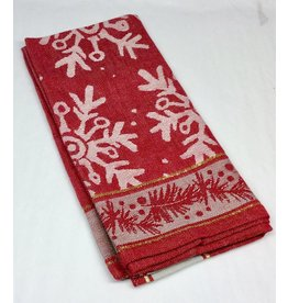 Design Home NAPKIN FALLING RED SNOWFLAKE