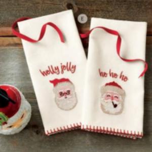 Design Home Gift & Paper Inc. Guest Towel MERRY SANTA Set/2