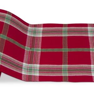 Design Home TABLECLOTH 60x84 JOYFUL PLAID RED/GREEN