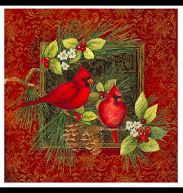 IHR Botanical Christmas Birds Lunch Napkins