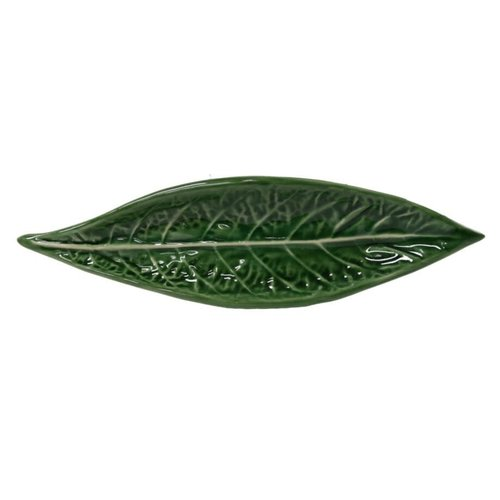 "PORTUGAL IMPORTS VINTAGE CABBAGE Long Leaf Dish  13"""