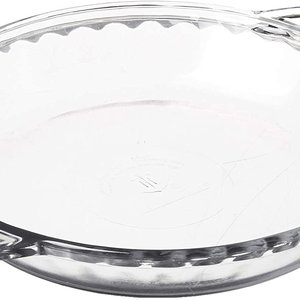 "Anchor Hocking Pie Dish Glass Deep 9"" Fire King"