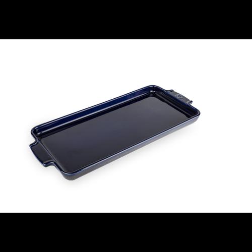 "Peugeot APPOLIA Appetizer Platter Blue 16"""