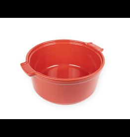 "Peugeot APPOLIA Souffle Dish Red 8.6"""