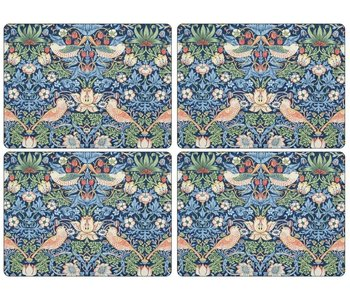 Placemats Morris Strawberry Thief Blue Set/4