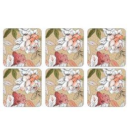 Pimpernel Coasters Floral Sketch Set/6