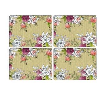 Placemats Floral Sketch  Set/4