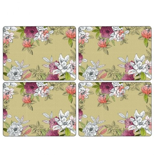 Pimpernel Placemats Floral Sketch  Set/4